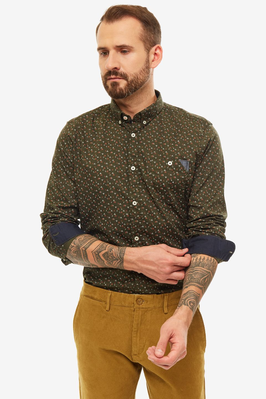 Рубашка мужская TOM TAILOR зеленая