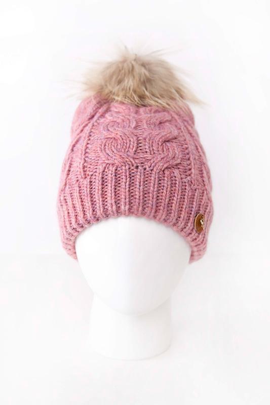 Шапка женская Noryalli 45811/2 розовая ONE SIZE