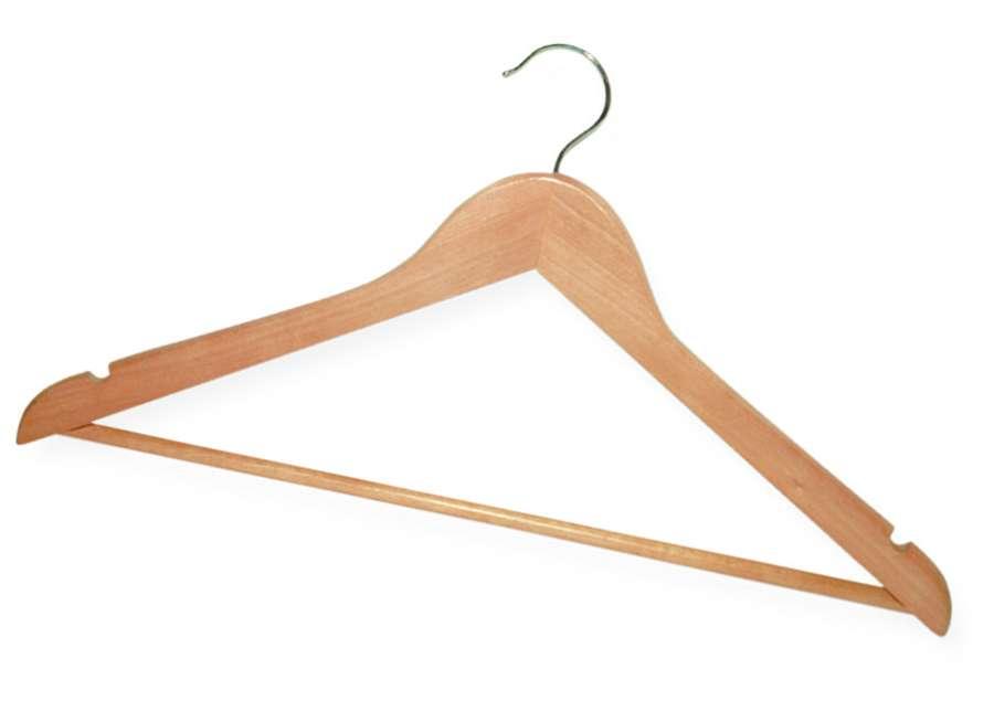 Вешалка для одежды деревянная, шт