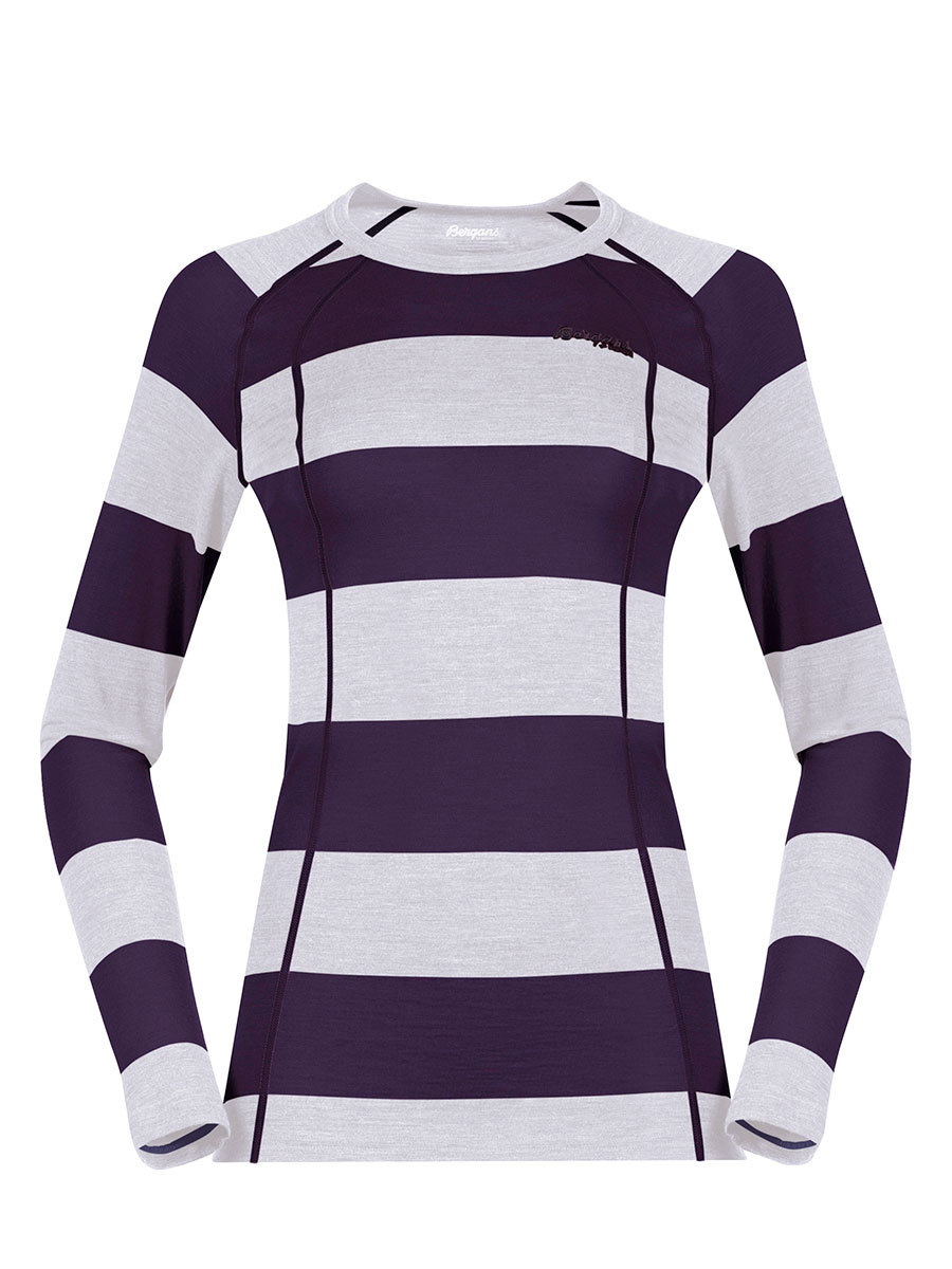 Футболка Bergans Fjellrapp Lady Shirt женская фиолетовый,