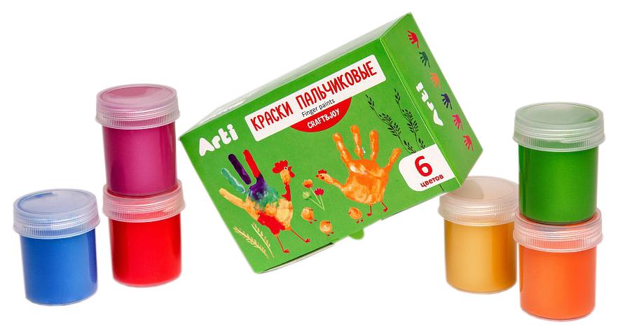 Пальчиковые краски Craft & Joy, 6 цветов
