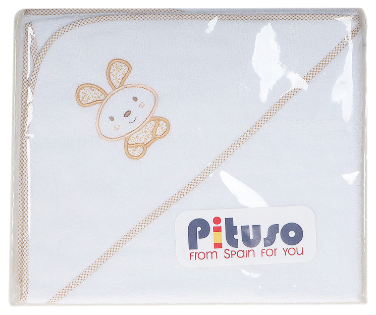 Пеленка для купания PITUSO махровая На лужайке, цв. бежевый
