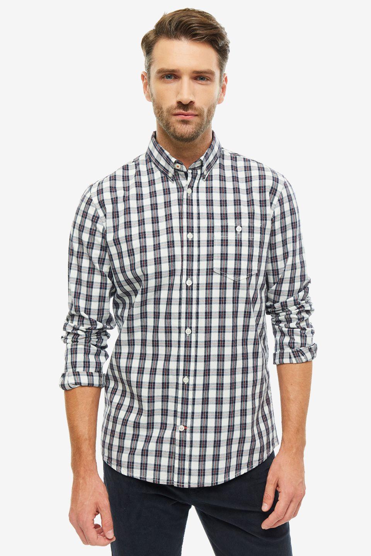 Рубашка мужская TOM TAILOR 1013888-19803 синяя XXS фото