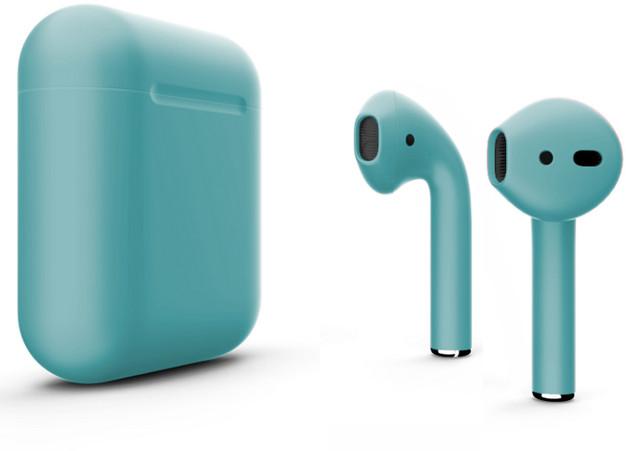 Наушники Apple AirPods Color 2 в футляре без беспроводной зарядки (Tiffany Matte) фото