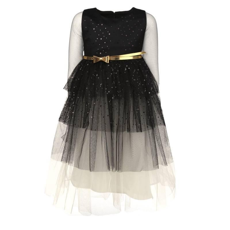 Купить 1558, Платье Елка UNONA D'ART, цв. черный, 128 р-р, Платья для девочек