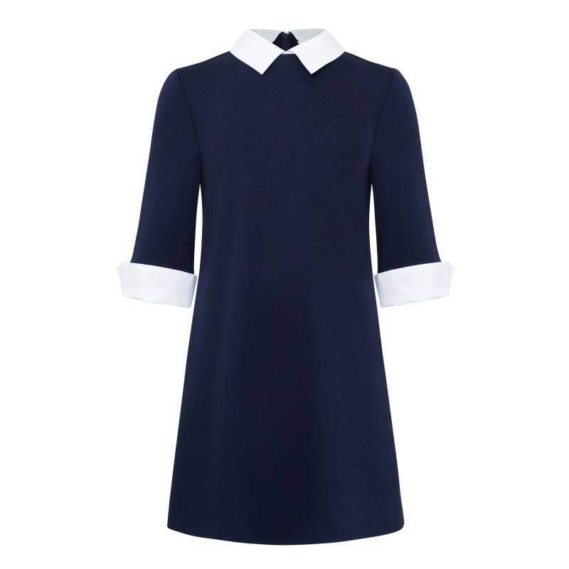 Платье Смена, цв. синий, 146 р-р, Детские платья и сарафаны  - купить со скидкой