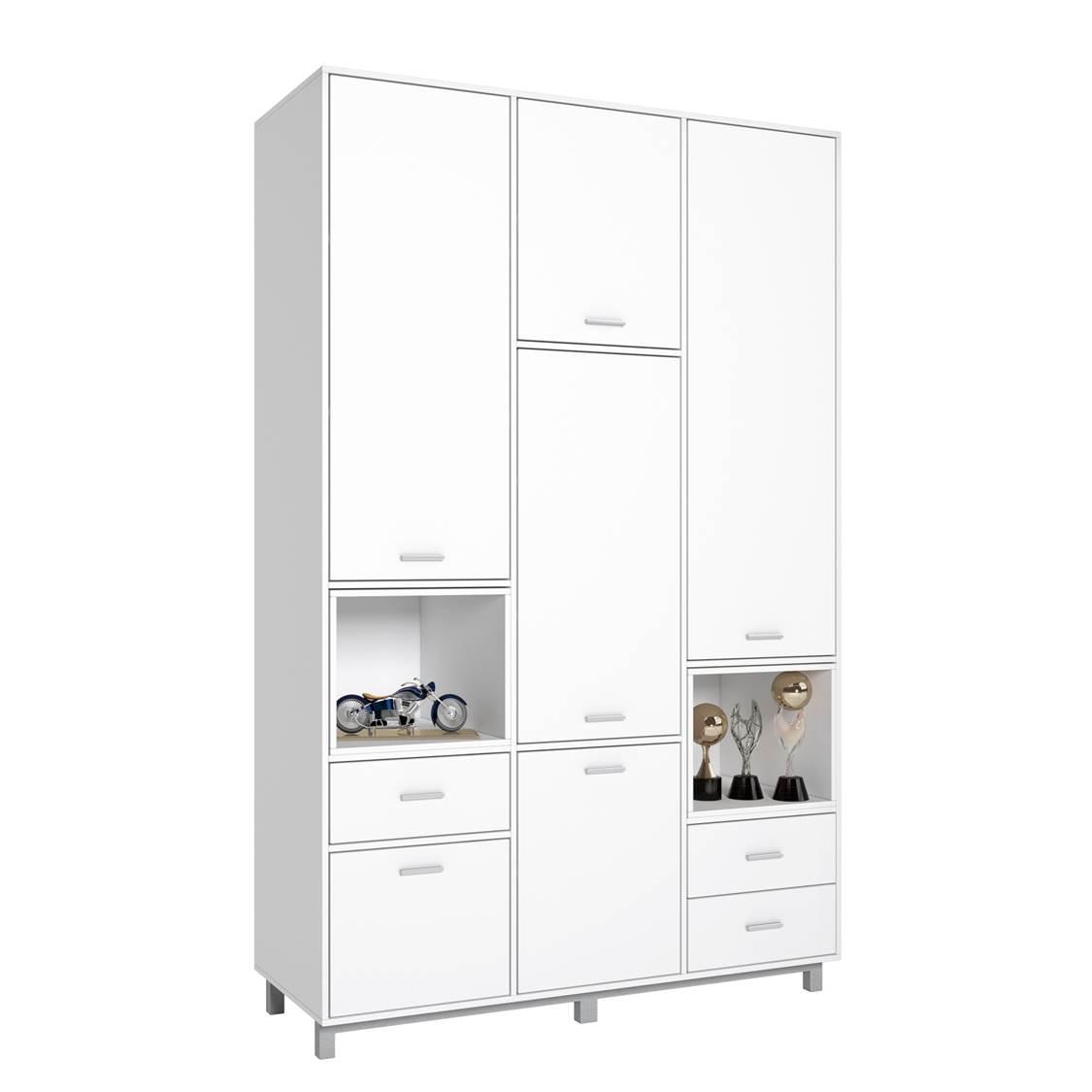 Купить Шкаф трехсекционный Polini kids Mirum 2330, белый, Шкафы в детскую комнату