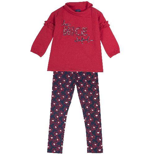 Комплект (кофта+брюки) Chicco для девочек размер 122 цв.синий