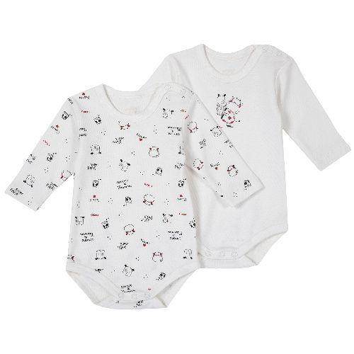 Купить 09011396, Комплект боди 2 шт. Chicco Друзья длинный рукав для мальчиков и девочек р.80 цв.белый, Боди для новорожденных