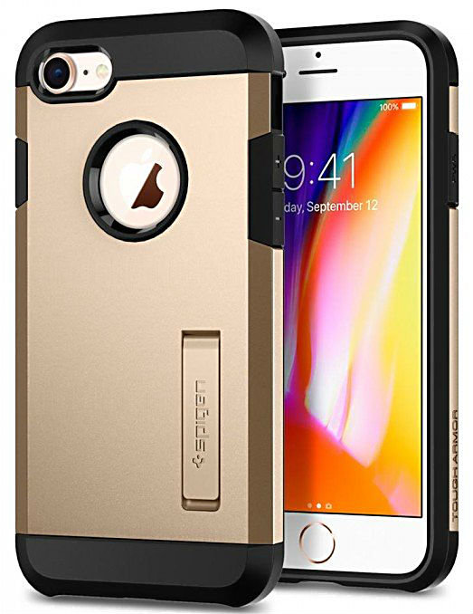 Чехол Spigen Tough Armor 2 для Apple iPhone 7/8 Champagne Gold (054CS22218)
