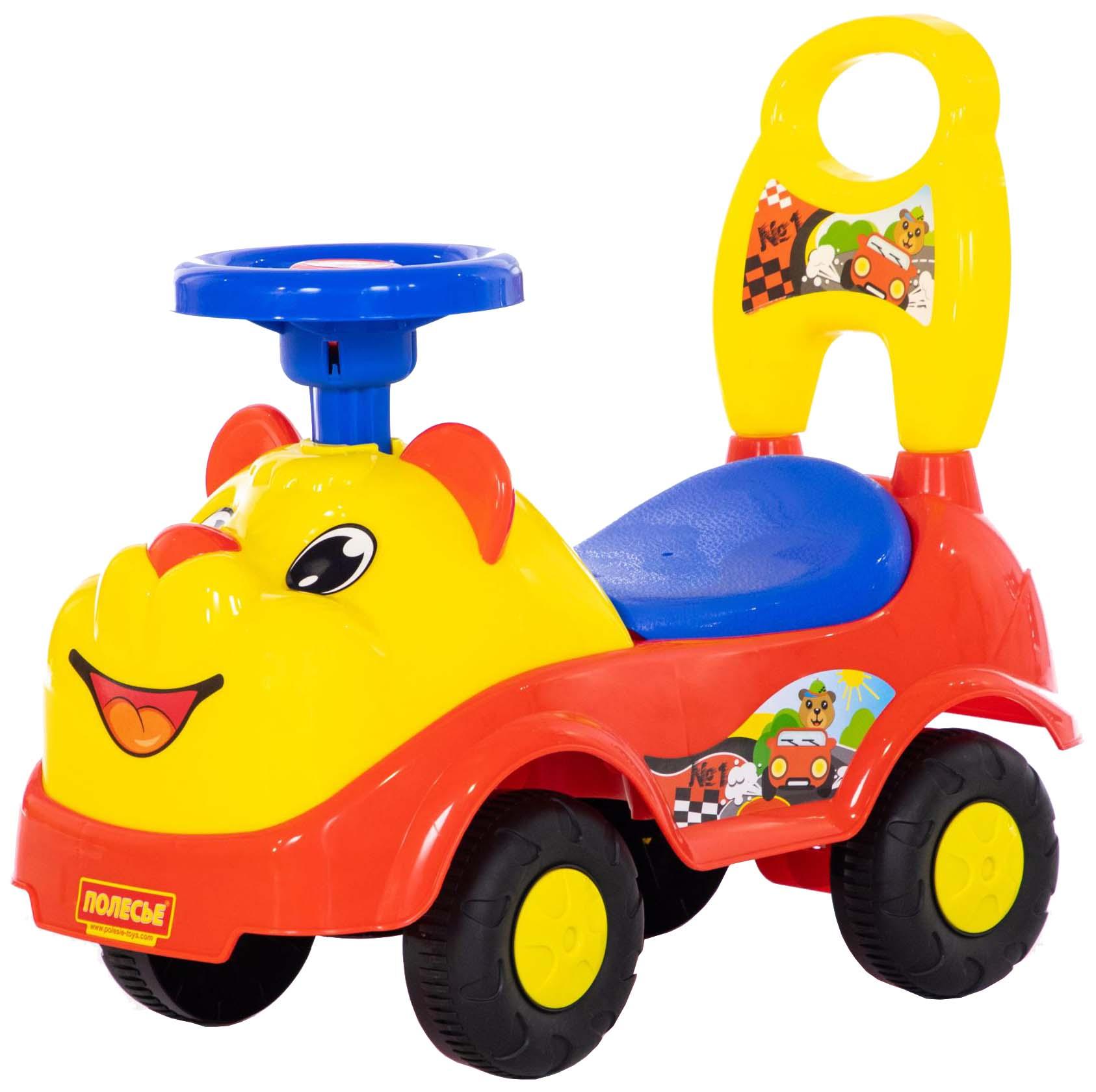 Купить Каталка детская Полесье Машина Мишка, Машинки каталки