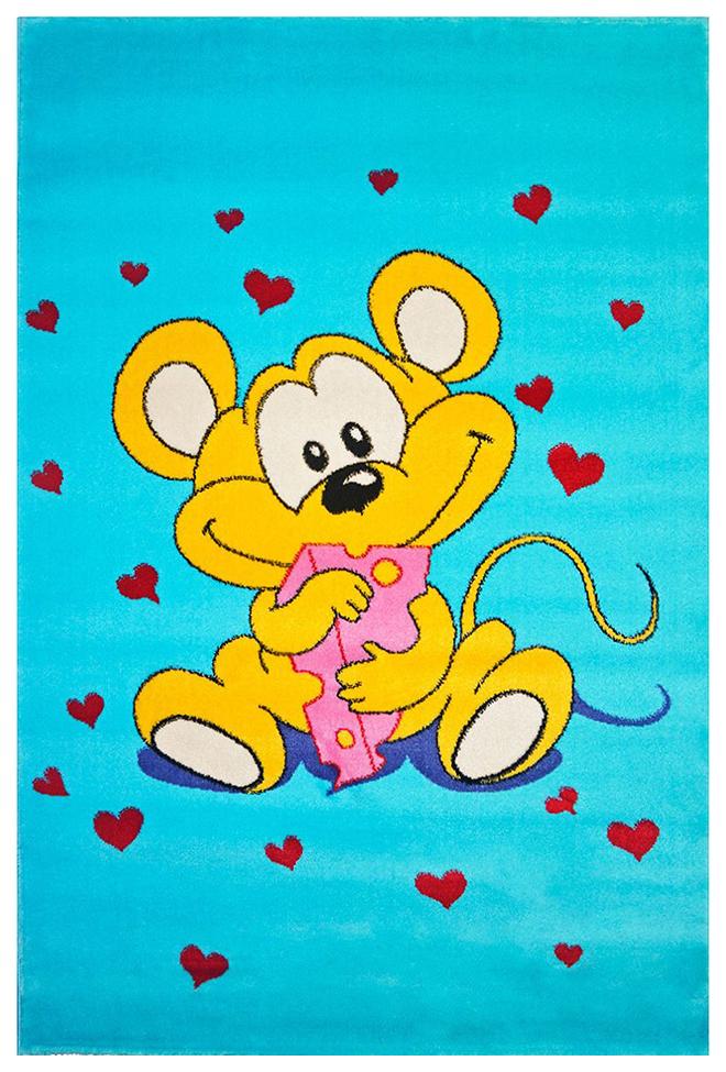 Купить Ковер детский цвет голубой 60 x 110 арт, УКД-2007, Kamalak tekstil, Коврики для детской
