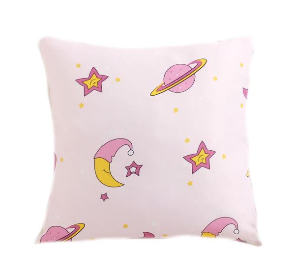 Подушка декоративная Крошка Я Млечный Путь, цвет розовый, 40×40 см