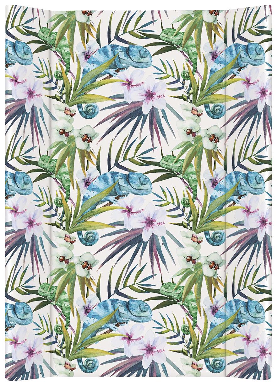 Матрац пеленальный Ceba Baby Flora & Fauna Camaleon Blanco W-200-099-542 фото