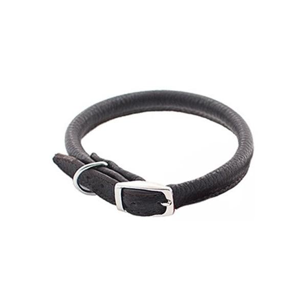 Ошейник Дарэлл Zoo-M Cord кожаный круглый (5 мм х 22-26 см, Черный)