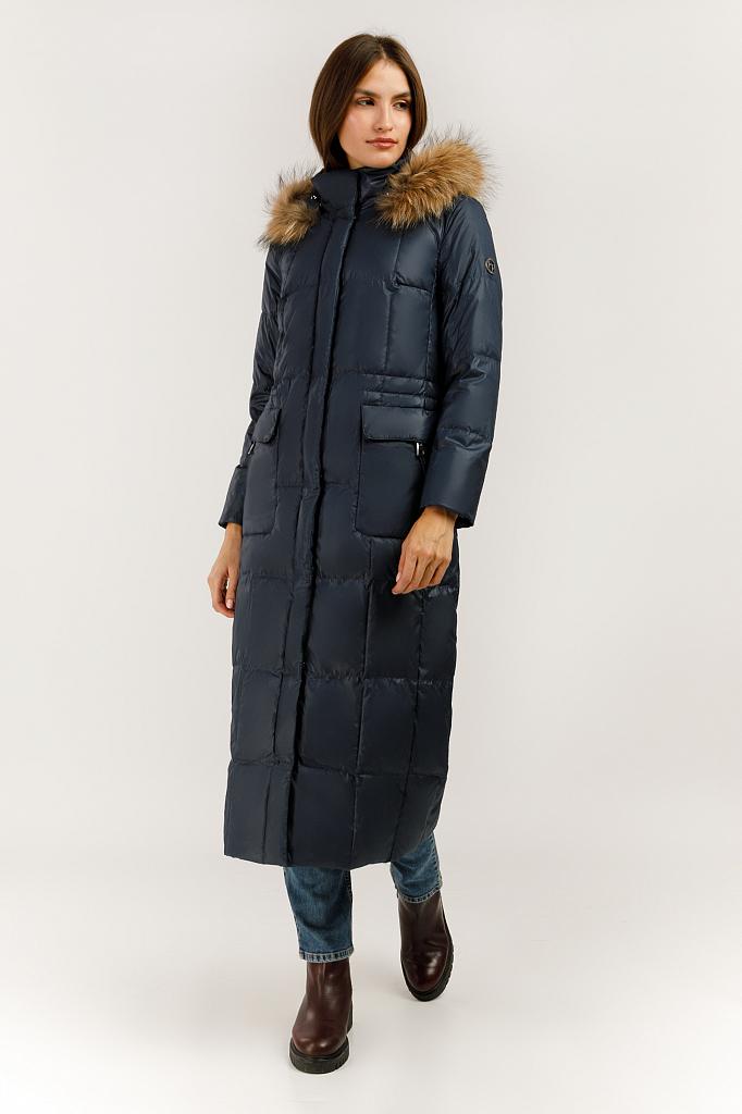 Пальто женское Finn Flare A19-11015 синее L фото