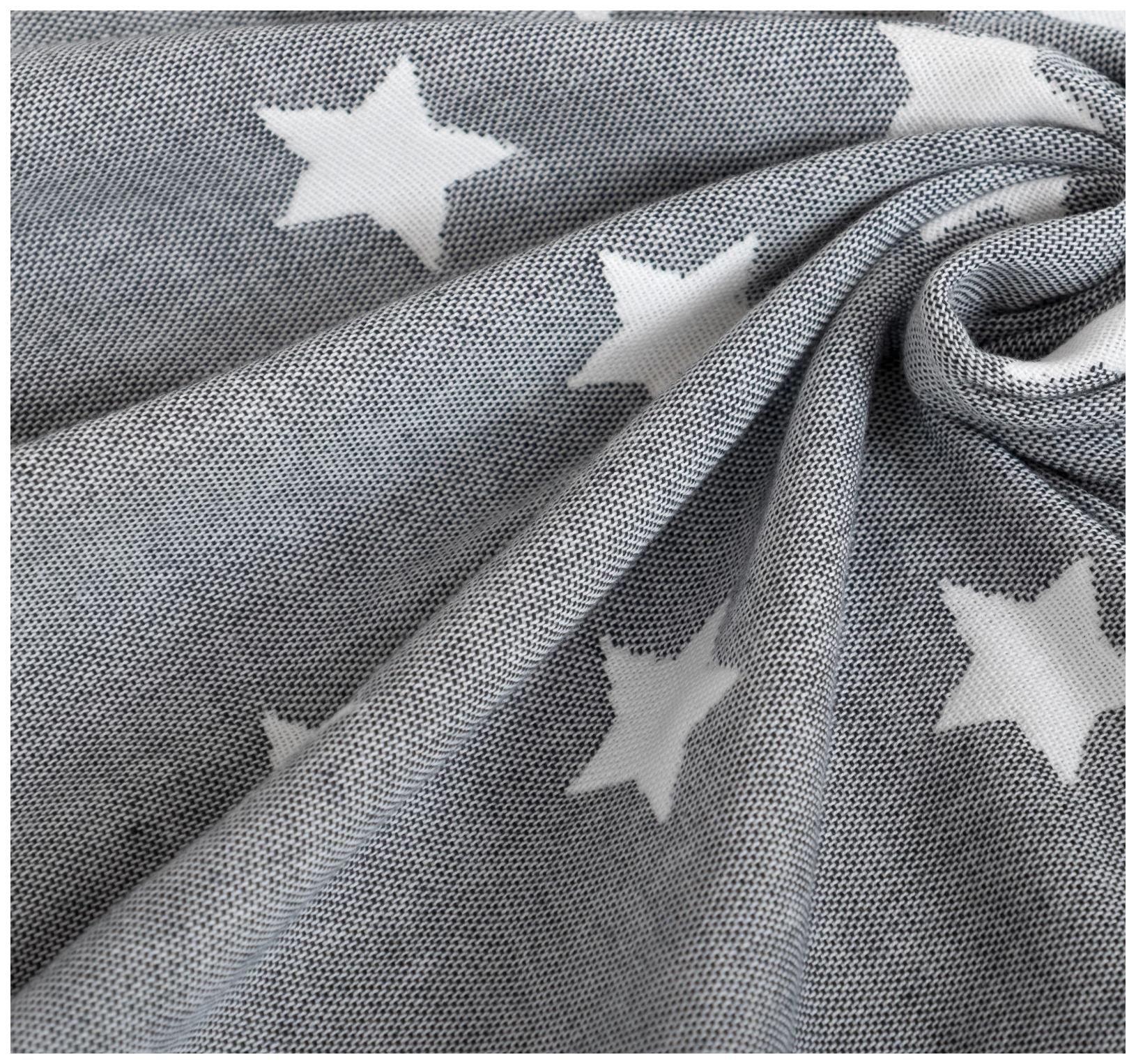 Одеяло детское Крошка Я Тёмно-серые звёзды, 110 × 140 см