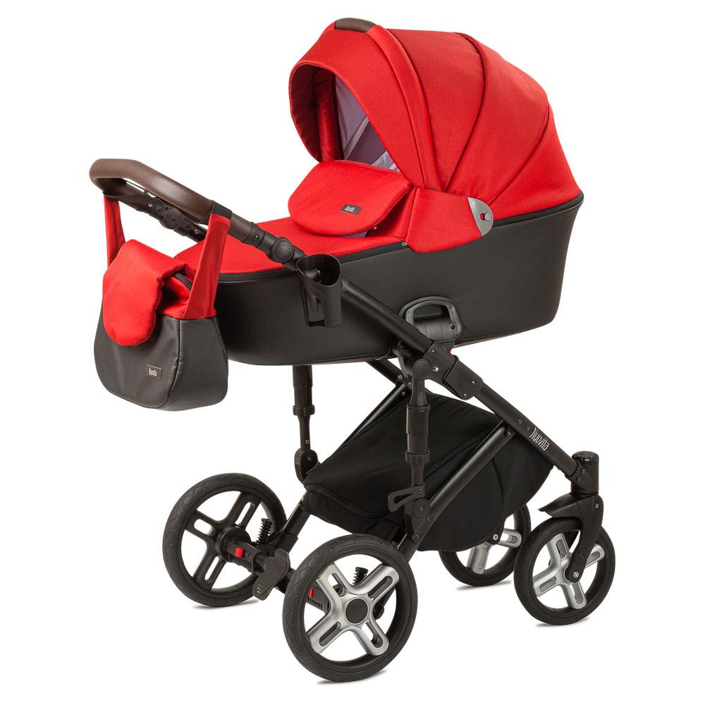 Купить Коляска Nuovita Carro Sport 2 в 1 Rosso nero/Красно-черный, Детские коляски 2 в 1