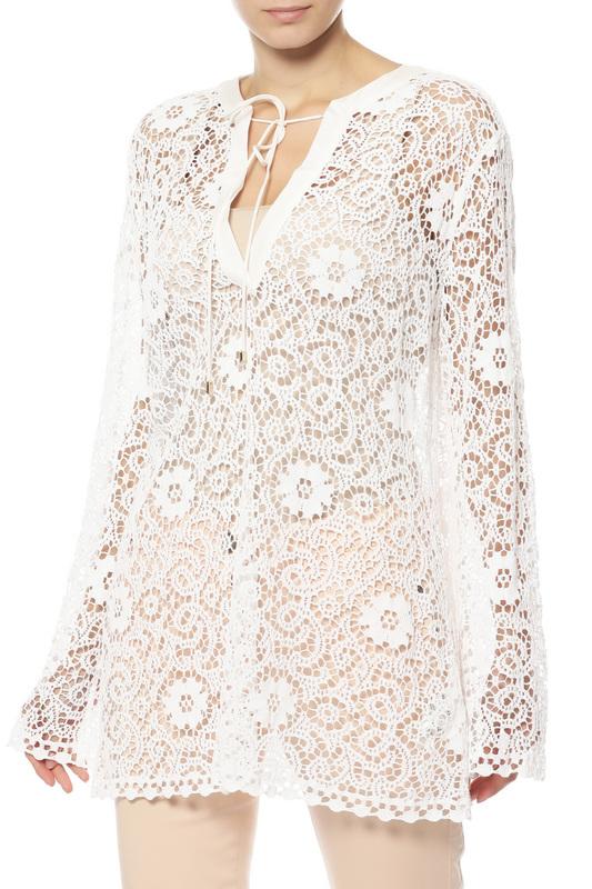 Блуза женская Rene Lezard H004/A/8636/000 белая 42 DE