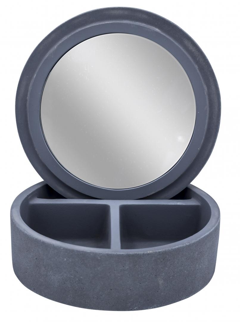 Шкатулка с зеркалом Cement серый