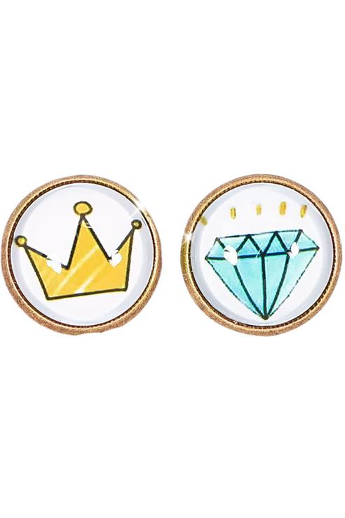 Серьги женские ViviTrend Королевский алмаз (гвоздики) 51095 разноцветные фото