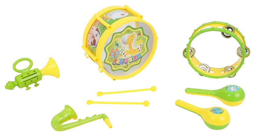 Купить Набор музыкальных инструментов детских S+S Toys EG12022R Зеленый, желтый, Детские музыкальные инструменты