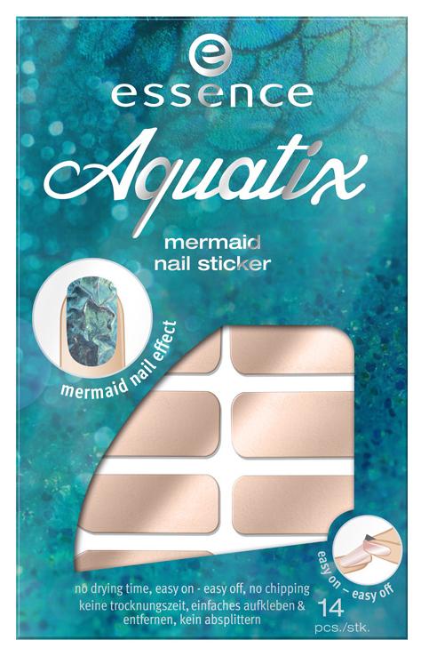 Наклейки для ногтей essence Aquatix Mermaid Nail Sticker