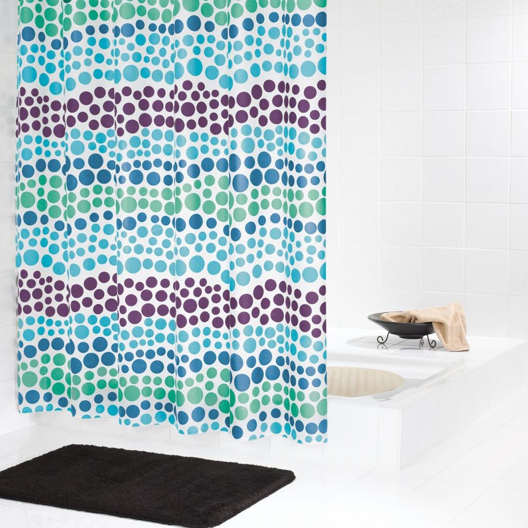 Штора для ванных комнат Layer синий/голубой 180*200