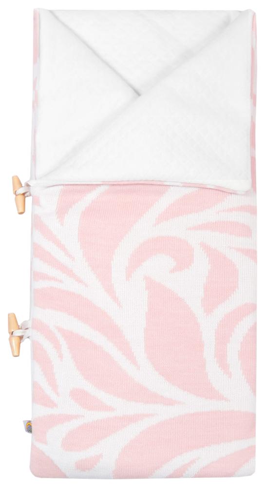Конверт одеяло с шапочкой Миндаль розовый Сонный Гномик