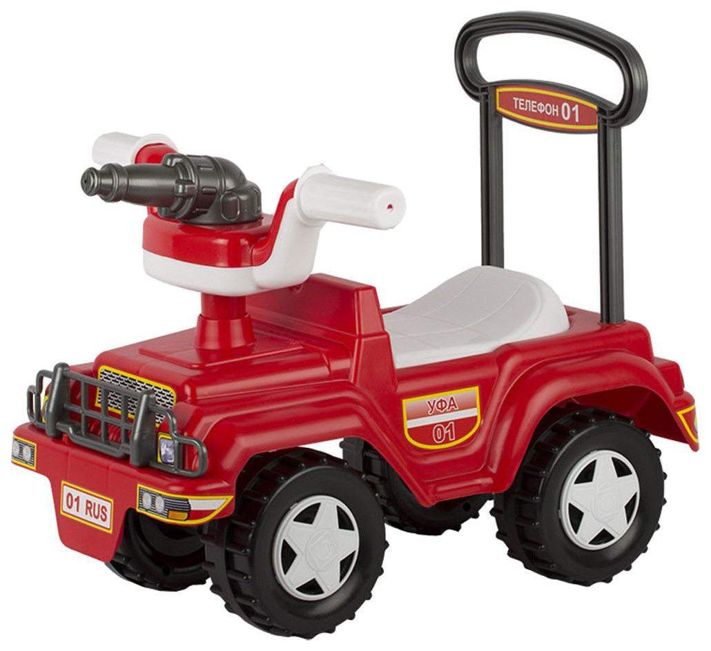 Купить Каталка-машинка Совтехстром Пожарная на колесах красный от 1, 5 лет, Машинки каталки