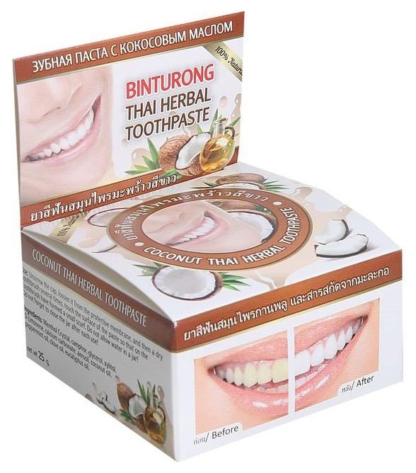 Купить Зубная паста BINTURONG С кокосовым маслом 33 г