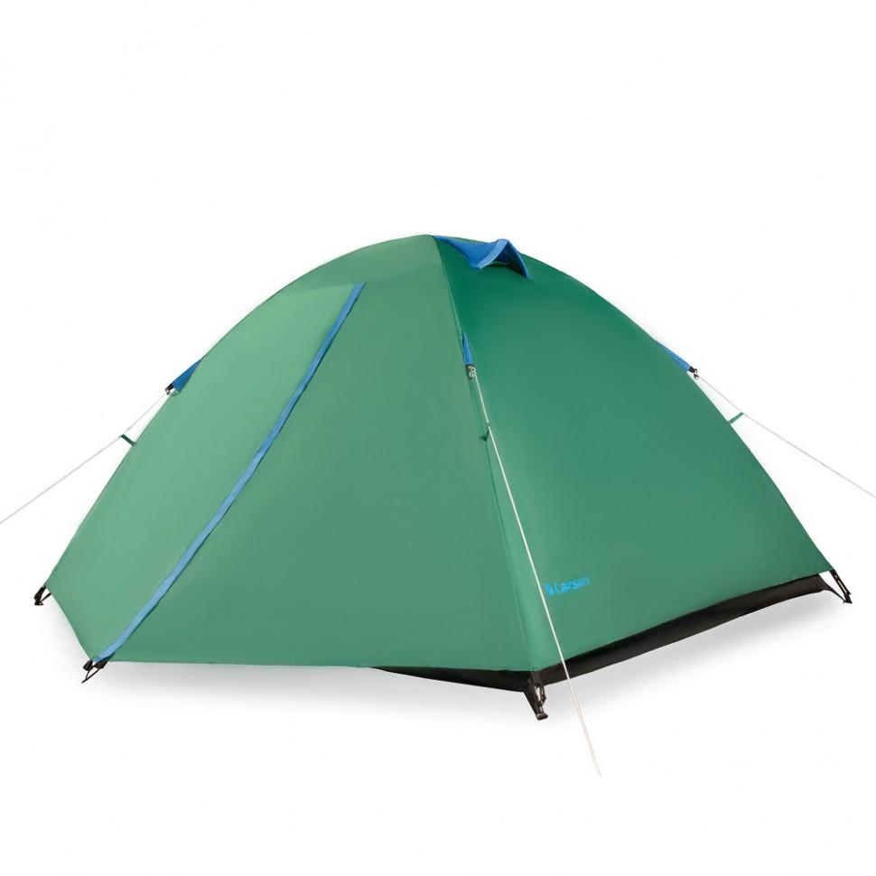 Палатка Larsen A3 трехместная зеленая