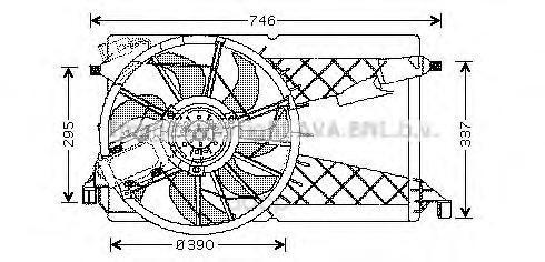 Вентилятор охлаждения двигателя с рамкой Mazda