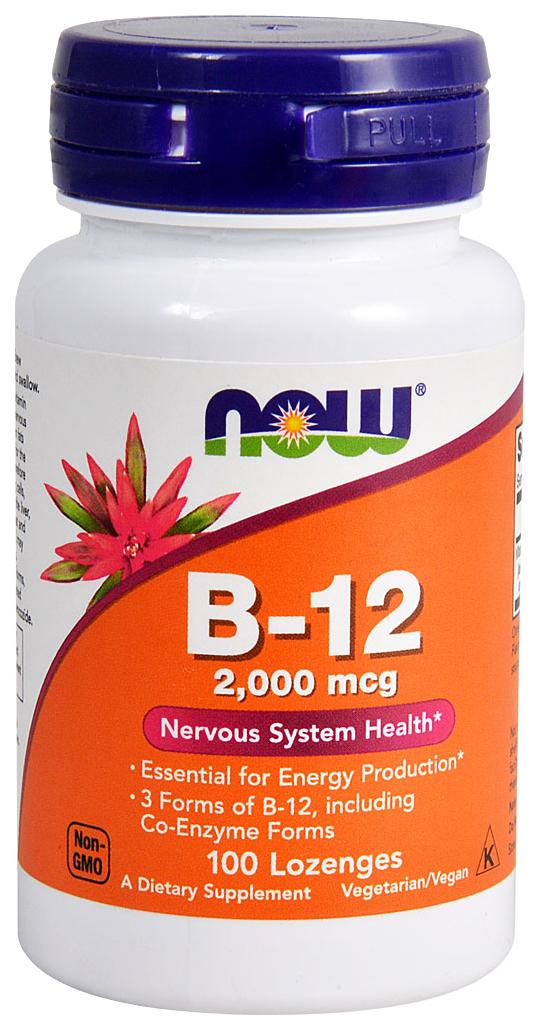 Купить Витамин B NOW B-12 2000 мкг 100 пастилок