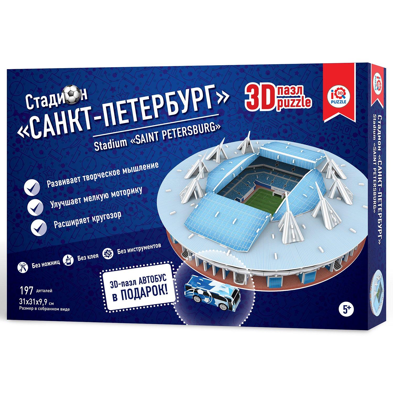 Купить 3d пазл IQ 3D PUZZLE 16551 Стадион Санкт-Петербург, 3D пазлы