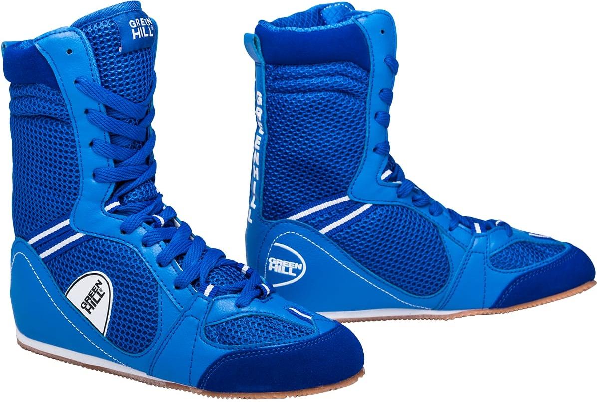 Обувь для бокса Green Hill PS005 высокая, синяя (43)