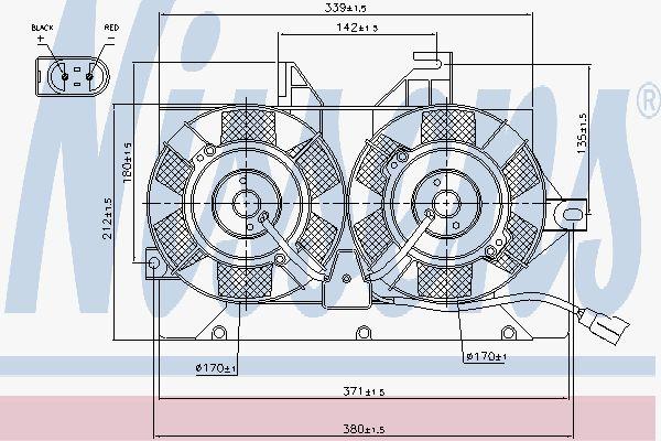Вентилятор охлаждения двигателя NISSENS 85425