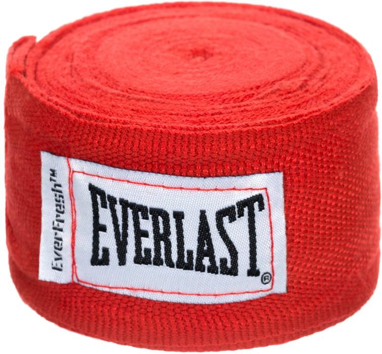 Бинт боксерский Everlast 4463RD, 2.5 м, эластик,