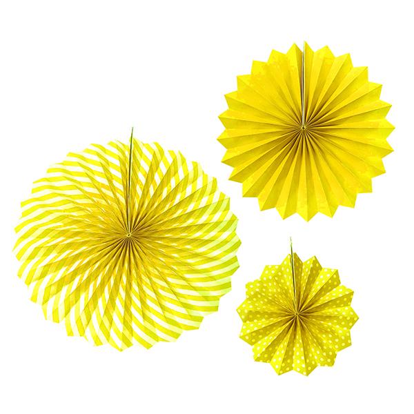 Купить Набор бумажных фантов Патибум 20/30/40см Yellow 3шт,