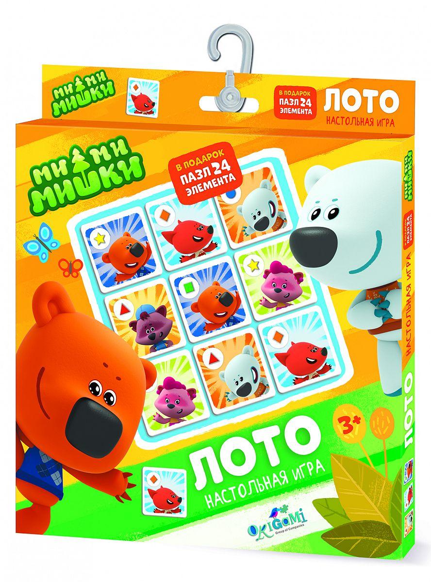 Купить Настольная игра Origami МиМиМишки Лото + пазл 24 элемента 04360/O, Семейные настольные игры