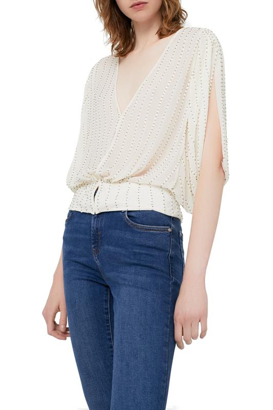 Блуза женская MANGO бежевая S