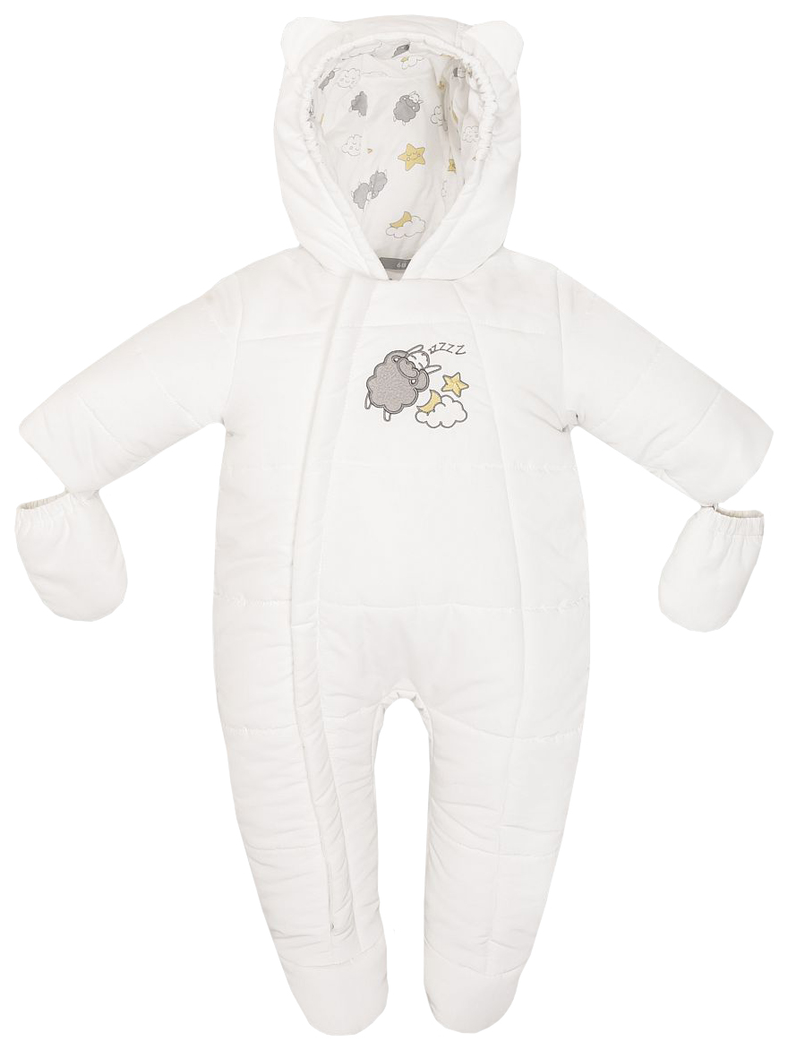 Купить W18B2010P, Комбинезон осенний детский Barkito, белый р.62, Детские комбинезоны для мальчиков