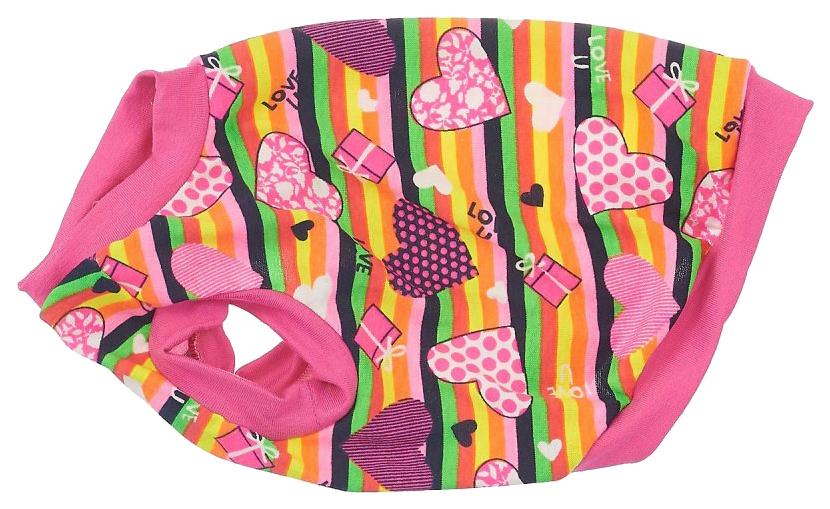 Майка для собак Happy Puppy Карамель розовый XL.