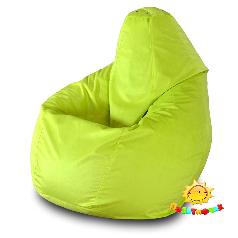 Кресло-мешок Pazitif Груша Пазитифчик Велюр, размер L, велюр, желтый