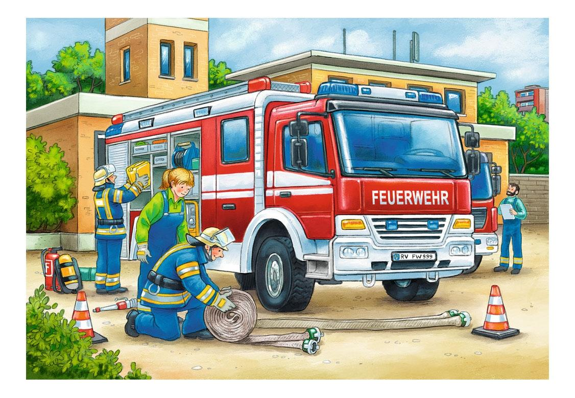 Купить Полицейские и пожарные, Пазл ravensburger «полицейские и пожарные» 2х12элем., Пазлы