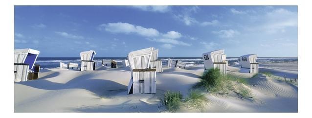 Купить Пляжные корзинки на Зюлте, Пазл ravensburger панорамный «пляжные корзинки на зюлте» 1000 элем., Пазлы