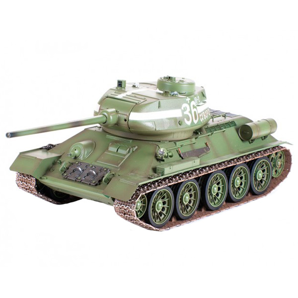 Радиоуправляемый танк Pilotage Т-34/85, 1:16, зеленый (RC18173)