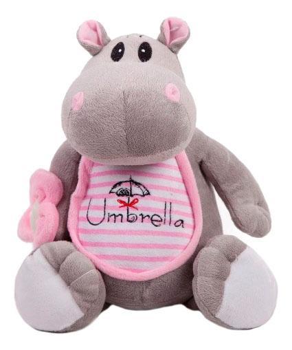 Мягкая игрушка Button Blue Бегемотик с зонтиком 21 см