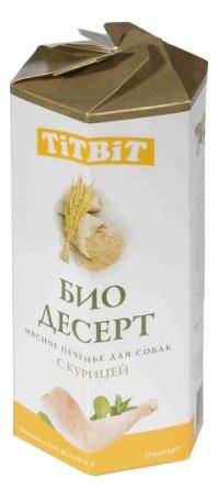Лакомство для собак TiTBiT био Десерт, печенье с курицей стандарт, 350г