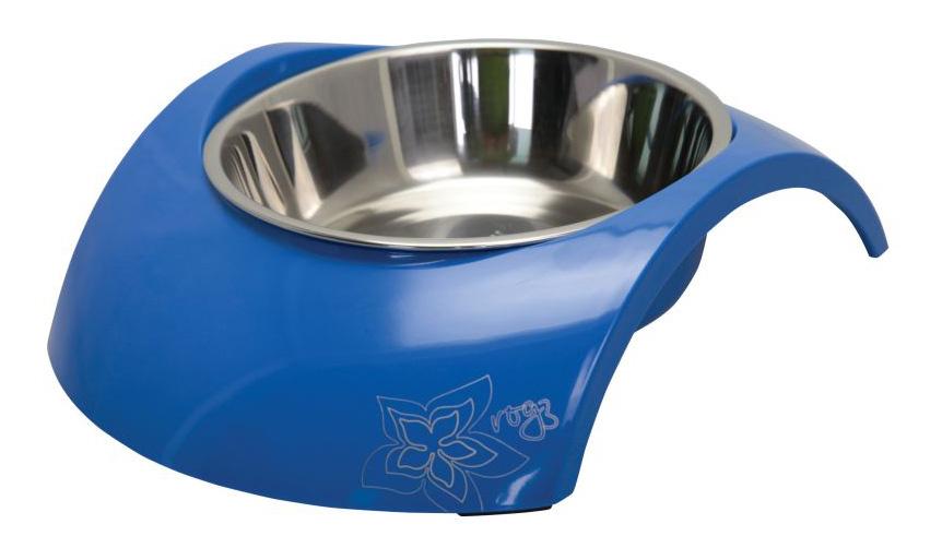 Одинарная миска для собак Rogz, сталь, синий,